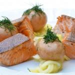 Włoskie danie z łososia