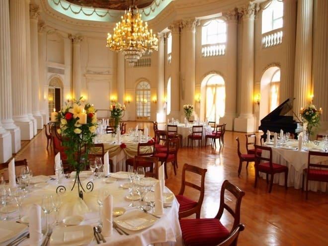 Zamek w Rydzynie sala weselna
