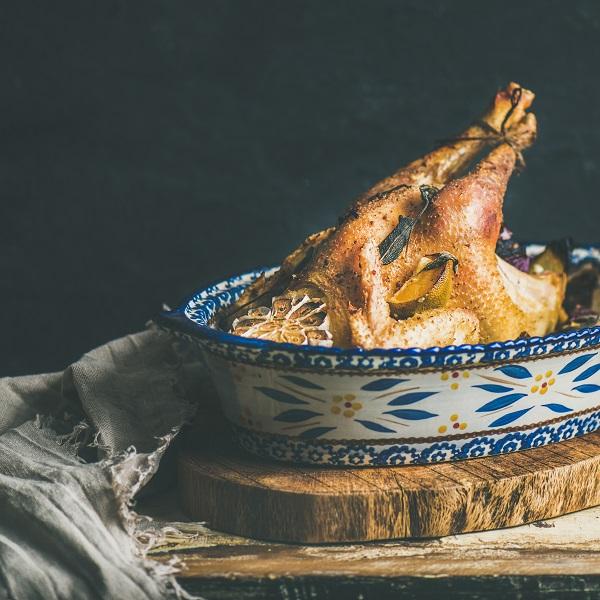 świąteczny kurczak pieczony