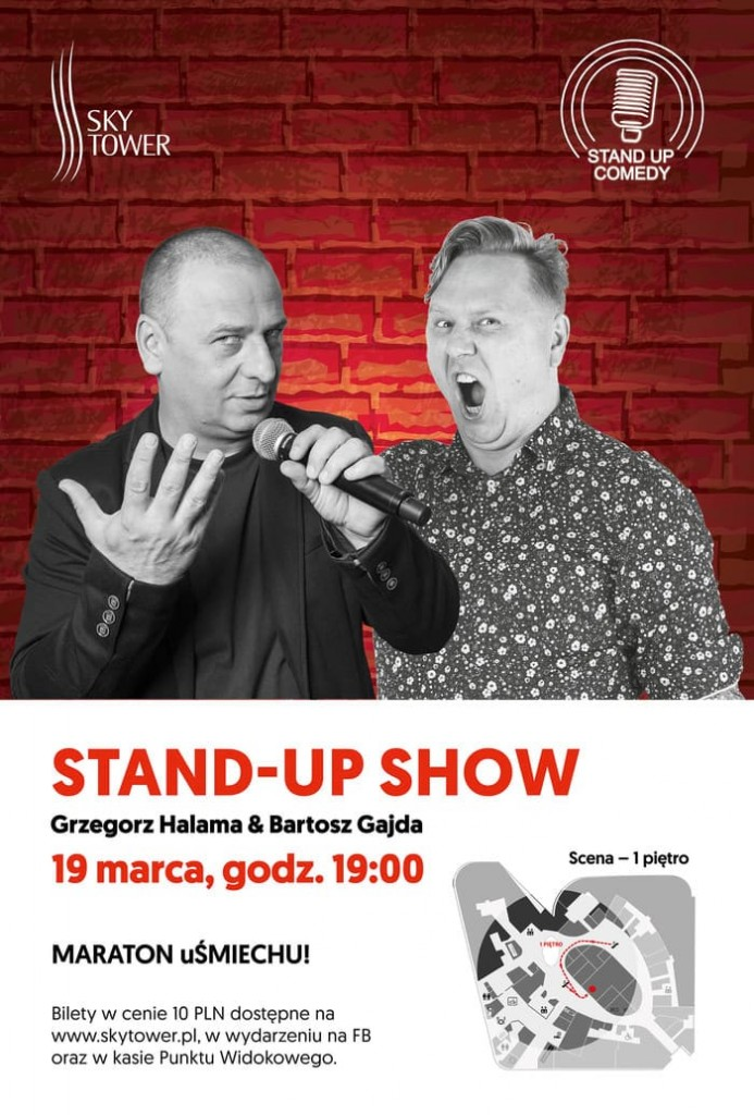 Stand-up w Sky Tower plakat